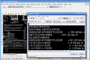 AllyCAD Multiline Text Editor